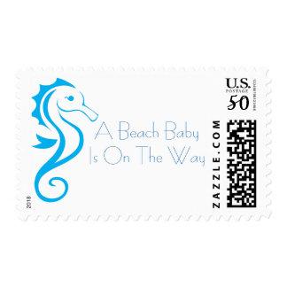 Seahorse Baby Shower Stamp (boy)