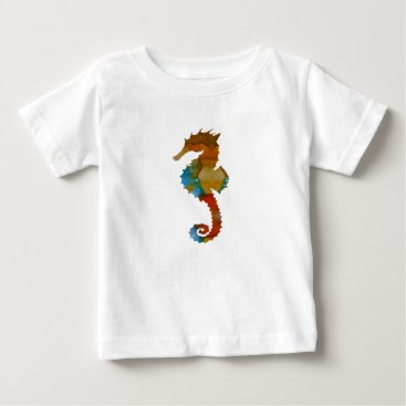 Beach Themed Seahorse Baby T-Shirt