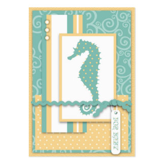 Seahorse Baby Thank You Notecard Large Business Cards (Pack Of 100)