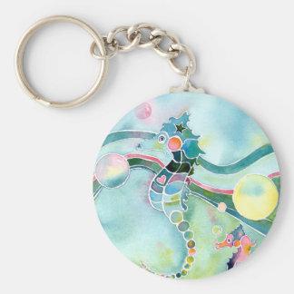 Seahorse Basic Round Button Keychain