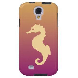 Seahorse beige en pendiente beige y púrpura