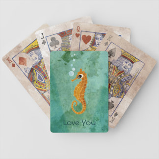 Seahorse Bicycle Playing Cards
