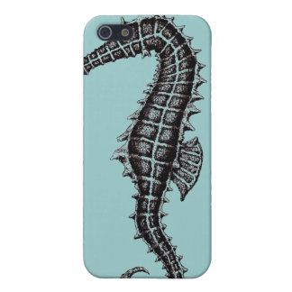 Seahorse black and white drawing art i phone case iPhone 5 cover