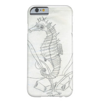 Seahorse - Black & White Barely There iPhone 6 Case
