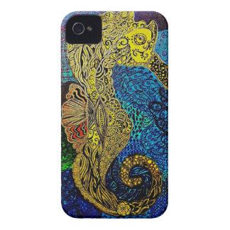 Seahorse Blackberry intrépido iPhone 4 Carcasas