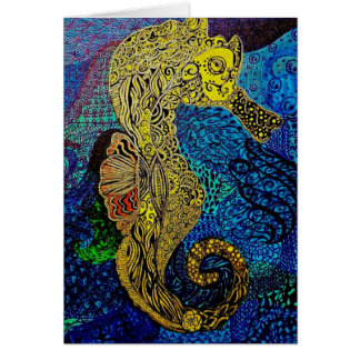 Seahorse blank notecards customize it stationery note card