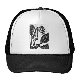 Seahorse  Block Print Trucker Hat
