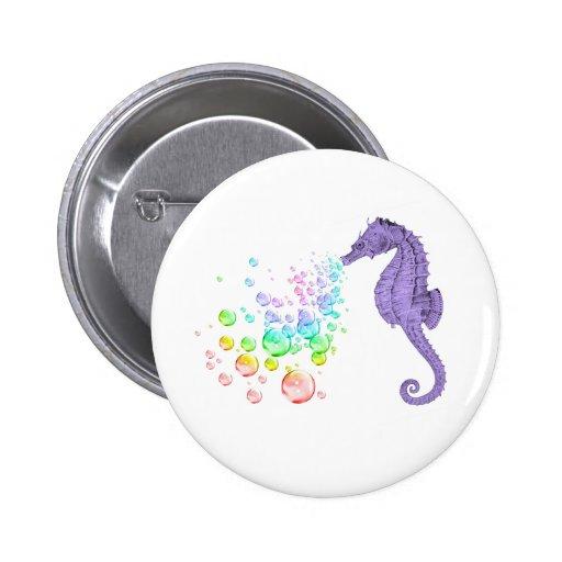seahorse blowing rainbow bubbles pin