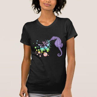 seahorse blowing rainbow bubbles t shirts