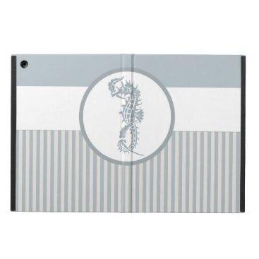 Beach Themed Seahorse Blue Elegant Summer iPad Air Case