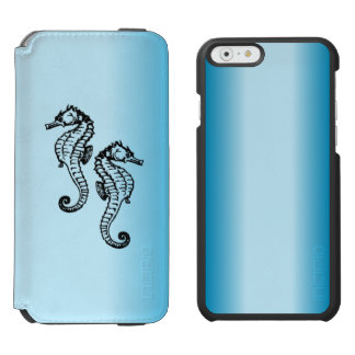 Seahorse Blue iPhone 6/6s Wallet Case