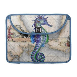 Seahorse Blue Map MacBook Pro Sleeve