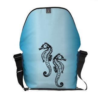 Seahorse Blue Messenger Bag