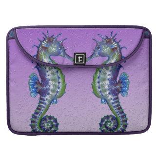 Seahorse Blue purple Love Sleeve For MacBooks