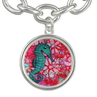 """Seahorse Bracelet """"I've got ocean devotion"""" Ocean"""