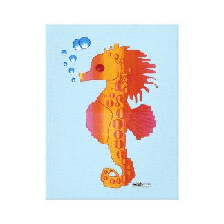 Seahorse Bubble Baby Canvas Print