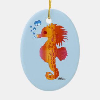 Seahorse Bubble Baby Ceramic Ornament