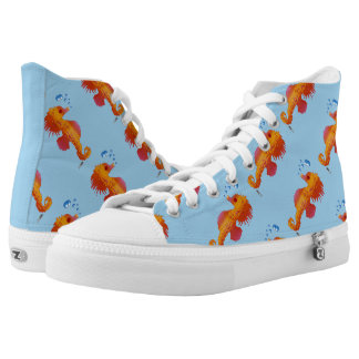 Seahorse Bubble Baby High-Top Sneakers
