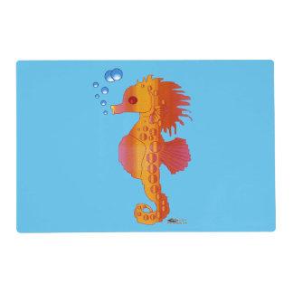 Seahorse Bubble Baby Placemat