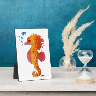 Seahorse Bubble Baby Plaque