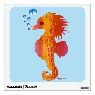 Beach Themed Seahorse Bubble Baby Wall Sticker