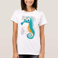 Seahorse bubbles T-Shirt