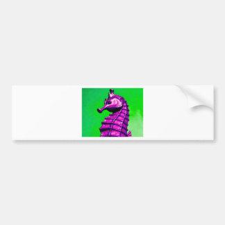 seahorse car bumper sticker