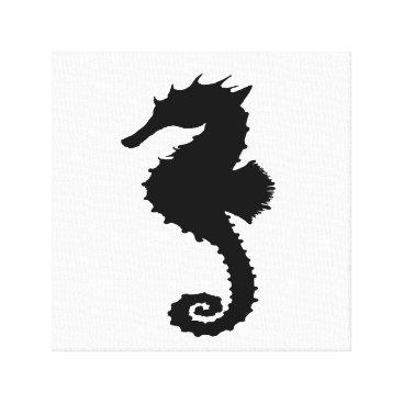 Beach Themed Seahorse Canvas Print