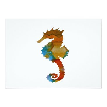 Beach Themed Seahorse Card