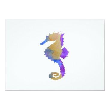 Beach Themed Seahorse Card