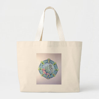 Seahorse-celtic zodiac-may 13 to june 9 large tote bag