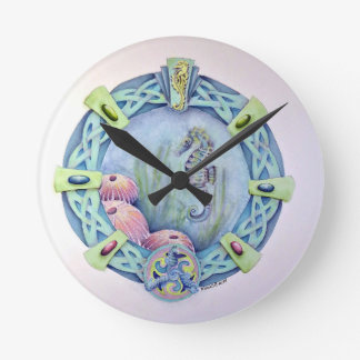 Seahorse-celtic zodiac-may 13 to june 9 round clock