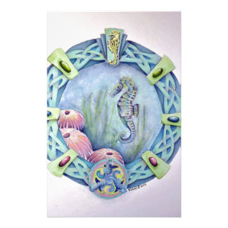 Seahorse-celtic zodiac-may 13 to june 9 stationery