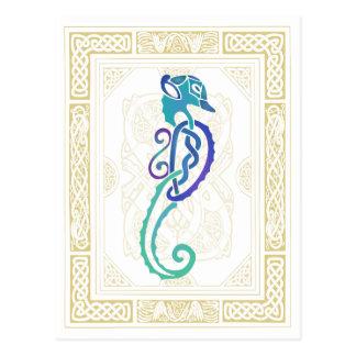 Seahorse céltico tarjetas postales