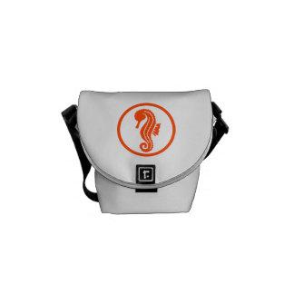 Seahorse circle courier bag
