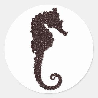 seahorse classic round sticker