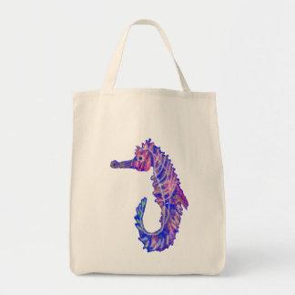 seahorse colorido bolsa de mano
