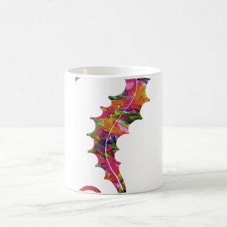 Seahorse colorido de la acuarela taza mágica