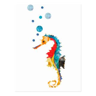Seahorse colorido postales