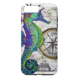 Seahorse Compass Collage iPhone 8 Plus/7 Plus Case