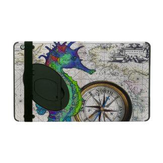 Seahorse Compass iPad Case