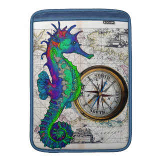 Seahorse Compass MacBook Sleeve