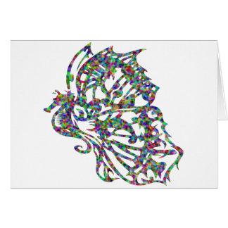 Seahorse con las alas de la mariposa tarjetón