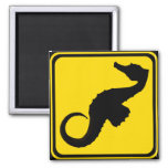 Seahorse Crossing ! 2 Inch Square Magnet