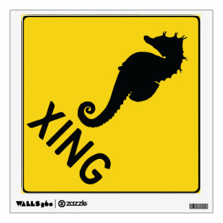Seahorse Crossing Wall Decal