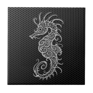 Seahorse de acero de la malla azulejo cerámica