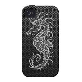 Seahorse de acero de la malla Case-Mate iPhone 4 carcasa