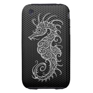 Seahorse de acero de la malla tough iPhone 3 protector