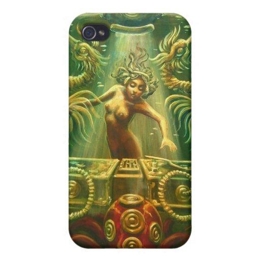 Seahorse de DJ iPhone 4 Protectores