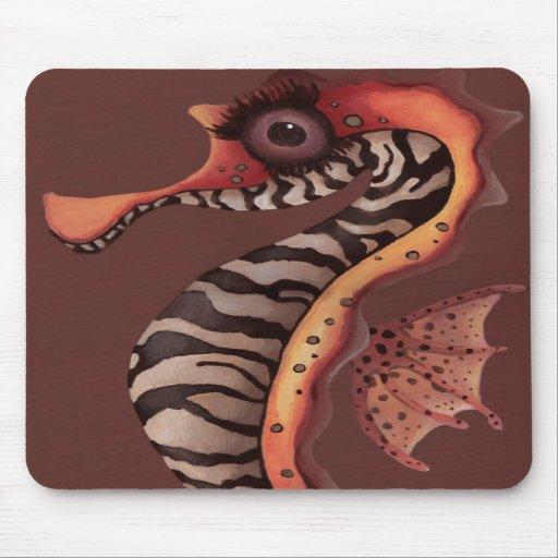 Seahorse de la cebra alfombrillas de ratones